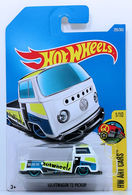 Volkswagen T2 Pickup | Model Trucks | HW 2017 - Collector # 295/365 - HW Art Cars 1/10 - Volkswagen T2 Pickup - White - International Long Card