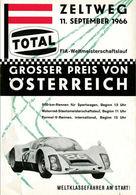 Grosser Preis von Österreich 1966 | Event Programs