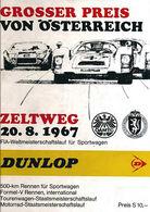 Grosser Preis von Österreich 1967 | Event Programs