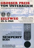 Grosser Preis von Österreich 1968 | Event Programs