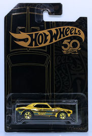 '67 Camaro | Model Cars | HW 2018 - 50th Anniversary Black & Gold Collection - CHASE - '67 Camaro - Gold Chrome - 5 Spokes