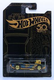 Rodger Dodger | Model Cars | HW 2018 - 50th Anniversary Black & Gold Collection 3/6 - Rodger Dodger - Matte Black - Gold 5 Spokes