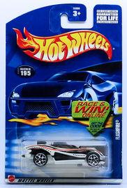 Flashfire | Model Cars | HW 2002 - Collector # 195/240 - Flashfire - White - USA Race & Win Card