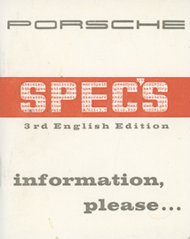 Porsche Spec's (356) | Manuals & Instructions
