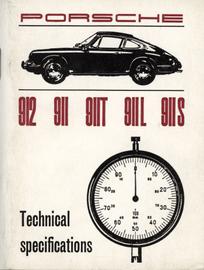 Porsche 912, 911, 911T, 911L, 911S Technical Specifications | Manuals & Instructions
