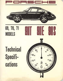 Porsche 69, 70, 71 Models 911T 911E 911S Technical Specifications | Manuals & Instructions