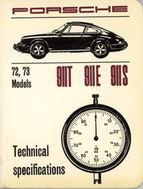 Porsche 72, 73 Models 911T 911E 911S Technical Specifications | Manuals & Instructions