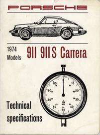 Porsche 1974 Models 911 911S Carrera Technical Specs | Manuals & Instructions