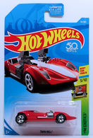 Twin Mill | Model Cars | HW 2018 - Collector # 074/365 - HW Exotics 3/10 - Twin Mill - Red - USA 50th Card