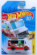 Quick Bite   Model Trucks   HW 2018 - Collector # 093/365 - Fast Foodie 2/5 - Quick Bite (Ice Cream Truck) - White - USA 50th Card