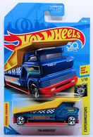 The Embosser | Model Trucks | HW 2018 - Collector # 075/365 - Experimotors 1/10 - The Embosser - Dark Blue - USA 50th Card