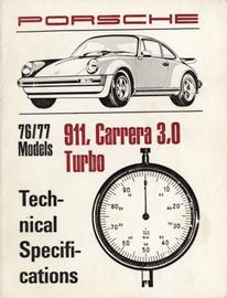 Porsche 76/77 Models 911, Carrera 3.0, Turbo Technical Specifications | Manuals & Instructions