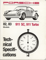 Porsche 82, 83 Models 911 SC, 911 Turbo Technical Specifications | Manuals & Instructions