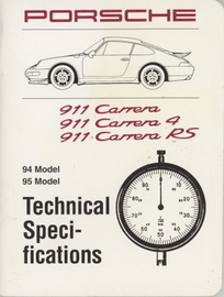 Porsche 911 Carrera, 911 Carrera 4, 911 Carrera RS (1994-95) Technical Specifications | Manuals & Instructions