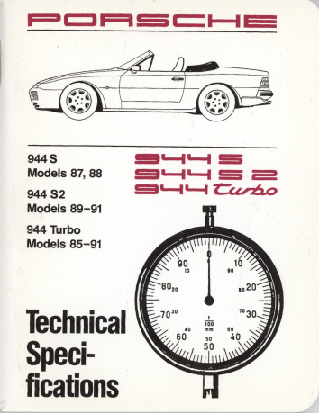 Porsche 944 S 944 S2 944 Turbo 1987 91 Technical Specifications