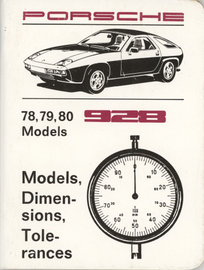 Porsche 928 (1978-80) Models, Dimensions, Tolerances | Manuals & Instructions