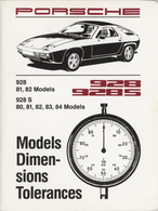 Porsche 928, 928S (1981-84) Models, Dimensions, Tolerances | Manuals & Instructions