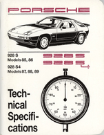 Porsche 928 S, 928 S4 (1985-89) Technical Specifications | Manuals & Instructions