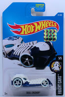 Skull Crusher | Model Cars | HW 2017 - Collector # 081/365 - Fright Cars 5/5 - Skull Crusher - White - USA Card with Factory Set Sticker