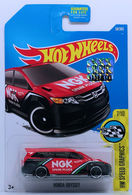 Honda Odyssey | Model Cars | HW 2017 - Collector # 058/365 - HW Speed Graphics 7/10 - Honda Odyssey - Red - USA Card with Factory Set Sticker