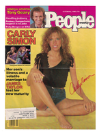 """Carly Simon """"Your So Vain"""" Signed Autograph 