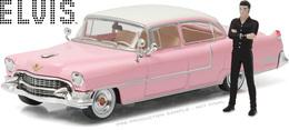 1955 Cadillac Fleetwood Series 60 with Elvis Presley Figure | Model Cars