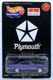 '69 GTX | Model Cars | HW 2000 - Adkins Collectibles / Hot Rod Magazine Street Machines 2/4 - '69 GTX - Purple - Opening Hood