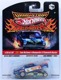 Tom McEwen's Mongoose II Plymouth Duster | Model Cars | HW 2009 - Dragstrip Demons 28/30 - Tom McEwen's Mongoose II Plymouth Duster - Blue with Authenic Decos - Metal/Metal & Real Riders