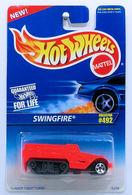 Swingfire    | Model Military Tanks & Armored Vehicles | HW 1996 - Collector # 492 - Swingfire - Bright Orange - USA Blue & White Card