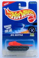 Big Bertha    | Model Military Tanks & Armored Vehicles | HW 1996 - Collector # 489 - Big Bertha - Bright Orange & Gray - USA Blue & White Card