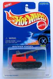 Rocket Shot    | Model Military Tanks & Armored Vehicles | HW 1996 - Collector # 491 - Rocket Shop - Bright Orange & Gray - USA Blue & White Card