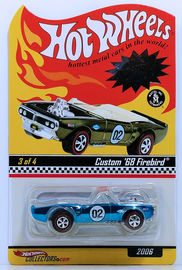 Custom '68 Firebird | Model Cars | HW 2006 - HWC / RLC Rewards Series 3/4 - Custom '68 Firebird - Spectraflame Light Blue - Limited to 3,000