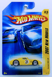 Ferrari 250 LM | Model Racing Cars | HW 2007 - Collector # 023/180 - New Models 23/36 - Ferrari 250 LM - Yellow - USA Card