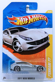 Ferrari FF | Model Cars | HW 2011 - Collector # 045/244 - New Models 45/50 - Ferrari FF - Silver - USA Card