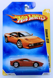Ferrari GTO | Model Cars | HW 2008 - Collector # 038/196 - New Models 38/40 - Ferrari GTO - Satin Dark Burnt Orange - USA Card