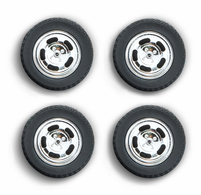 1978 Ford Mustang II Cobra Five Slot Performance Wheels and Tires Set   Model Spare Parts