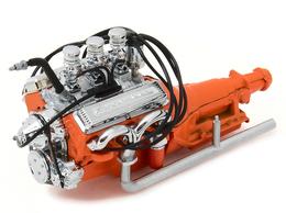 Custom 1932 Ford Hot Rod Engine and Transmission | Model Internal Combustion Engines