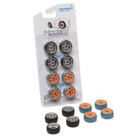 Modarri Wheel Pack  | Model Car Kits | Modarri Performace  Wheel Pack.  ( 8 wheels included: 4 Black and Silver, 4 Light Blue and Orange )
