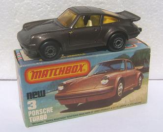 Porsche Turbo   Model Cars   dark brown cream interior amber windows L type box