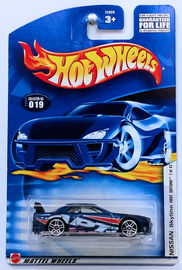 Nissan Skyline | Model Cars | HW 2002 - Collector # 019/240 - First Editions 7/42 - Nissan Skyline - Metallic Blue - PR5s - USA Card