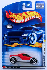 Honda Spocket     | Model Cars | HW 2002 - Collector # 020/240 - First Editions 8/42 - Honda Spocket - Red - USA Card