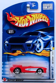 Corvette SR-2 | Model Cars | HW 2002 - Collector # 021/240 - First Editions 9/42 - Corvette SR-2 - Red - USA Card