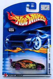 Custom Cougar     | Model Cars | HW 2002 - Collector # 028/240 - First Editions 16/42 - Custom Cougar - Black - USA Card