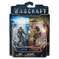 WARCRAFT Lothar vs Horde Warrior ( 2 Pack Mini Figures ) | Action Figure Sets | Warcraft - Lothar vs Horde Warrior. ( Mini Figure 2 Pack )