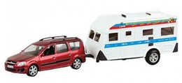 Lada Largus With Trailer | Model Cars | Lada Largus Red with Trailer