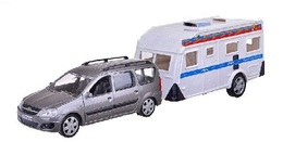 Lada Largus With Trailer | Model Cars | Lada Largus Silver with Trailer