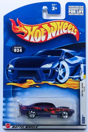 Jaded   | Model Cars | HW 2002 - Collector # 034/240 - First Editions 22/42 - Jaded - Purple - 5 Spoke - USA Card