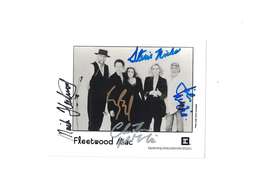 """Fleetwood Mac """"1967"""" Signed Autograph by all members 