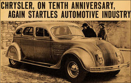 Chrysler, On Tenth Anniversary, Again Startles Automotive Industry  | Print Ads