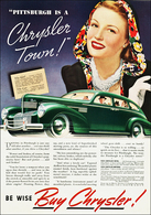 """Pittsburgh Is A Chrysler Town""! 